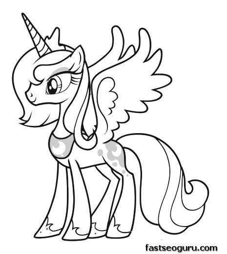 Printable My Little Pony Friendship Is Magic Princess Luna Coloring Pages Jpg X