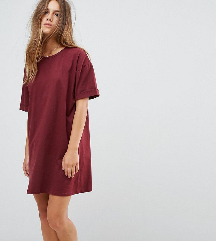 fc8b0f197f9 ASOS PETITE Ultimate T-Shirt Dress with Rolled Sleeves at asos.com