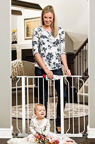 Regalo Easy Step 39 Inch Extra Wide Walk Thru Baby Gate Bonus Kit