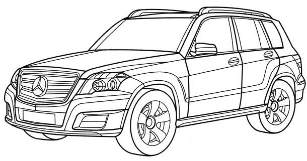 mercedes glk coloring page  mercedes car coloring pages
