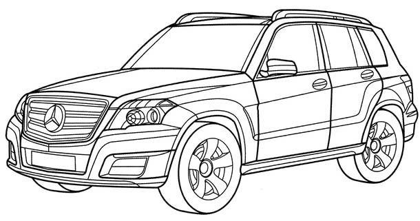 Mercedes glk coloring page mercedes car coloring pages for Coloring pages mercedes