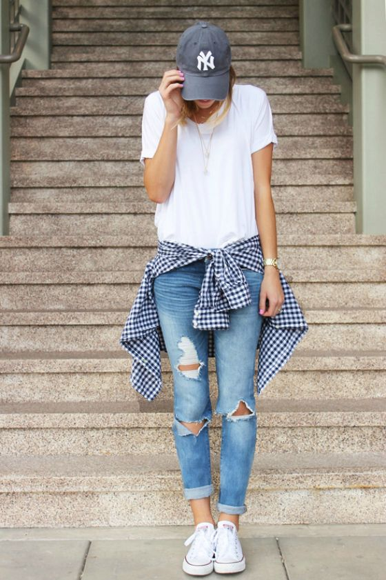 348a12644dd8 Navy Gingham Shirt Roundup (and what i wore link-up) | spring/summer ...