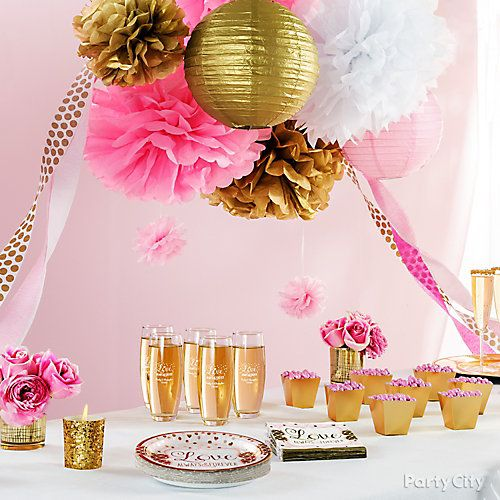Pink and Gold Bridal Shower Decorations Idea Bridal Shower Decor