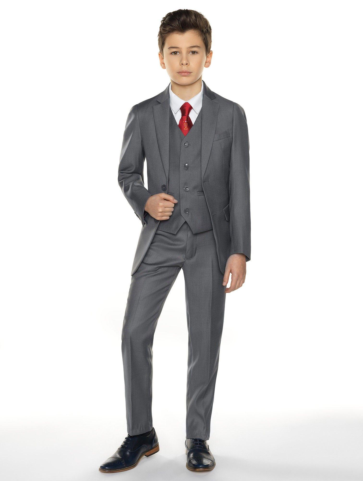 Boys grey communion suit sampson communion suits for