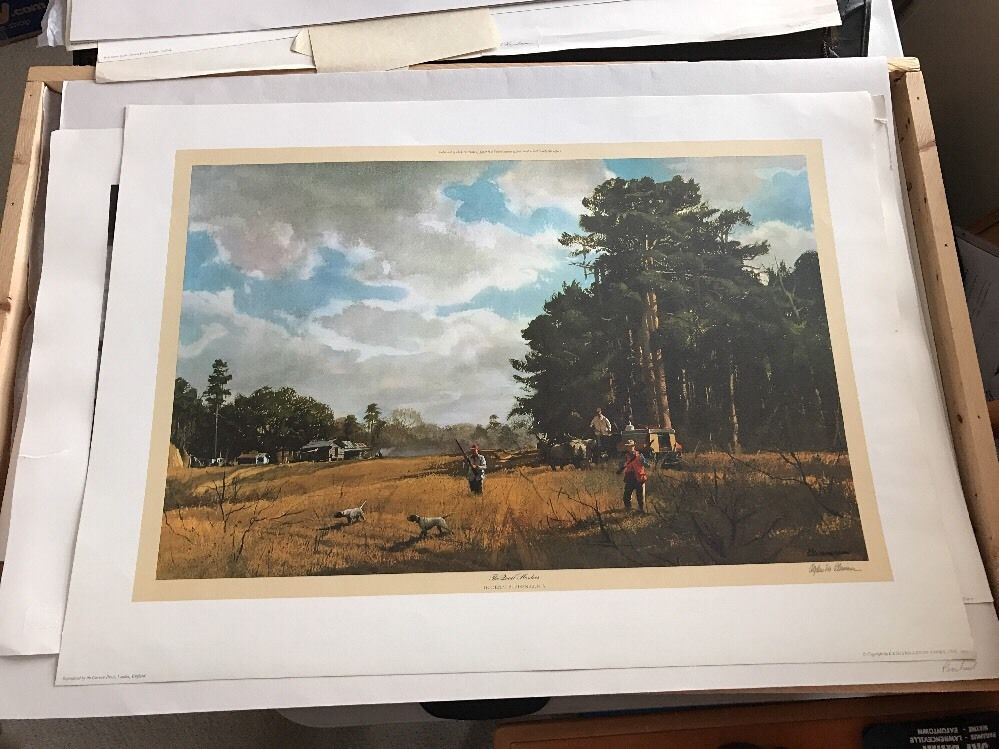 Ogden Pleissner Quail Hunters 23x32 Signed Limited Edition