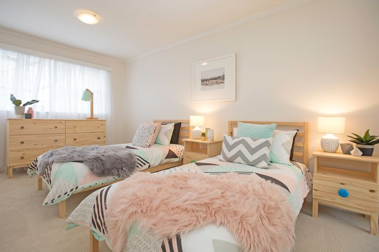 This Customer Has Used Soft Shades Of Pink And Pine Furniture To Create A Restful Space
