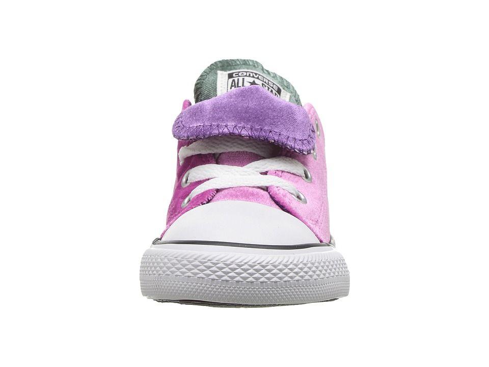 5d1f8d807e032c Converse Kids Chuck Taylor All Star Velvet Double Tongue - Ox  (Infant Toddler) Girls Shoes Pink Sapphire Deep Emerald