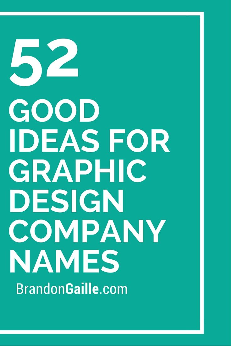 53 Good Ideas For Graphic Design Company Names