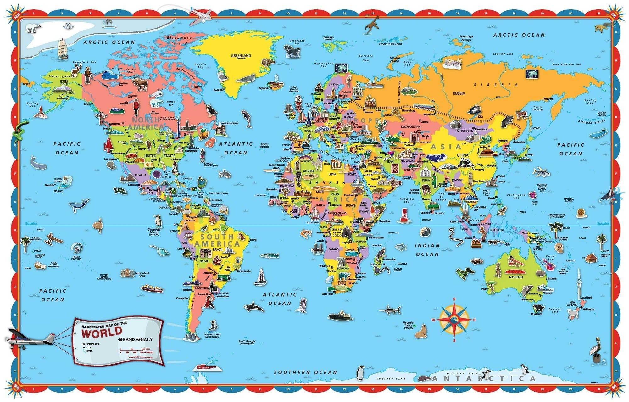 It is a graphic of Unforgettable Printable World Maps for Kids
