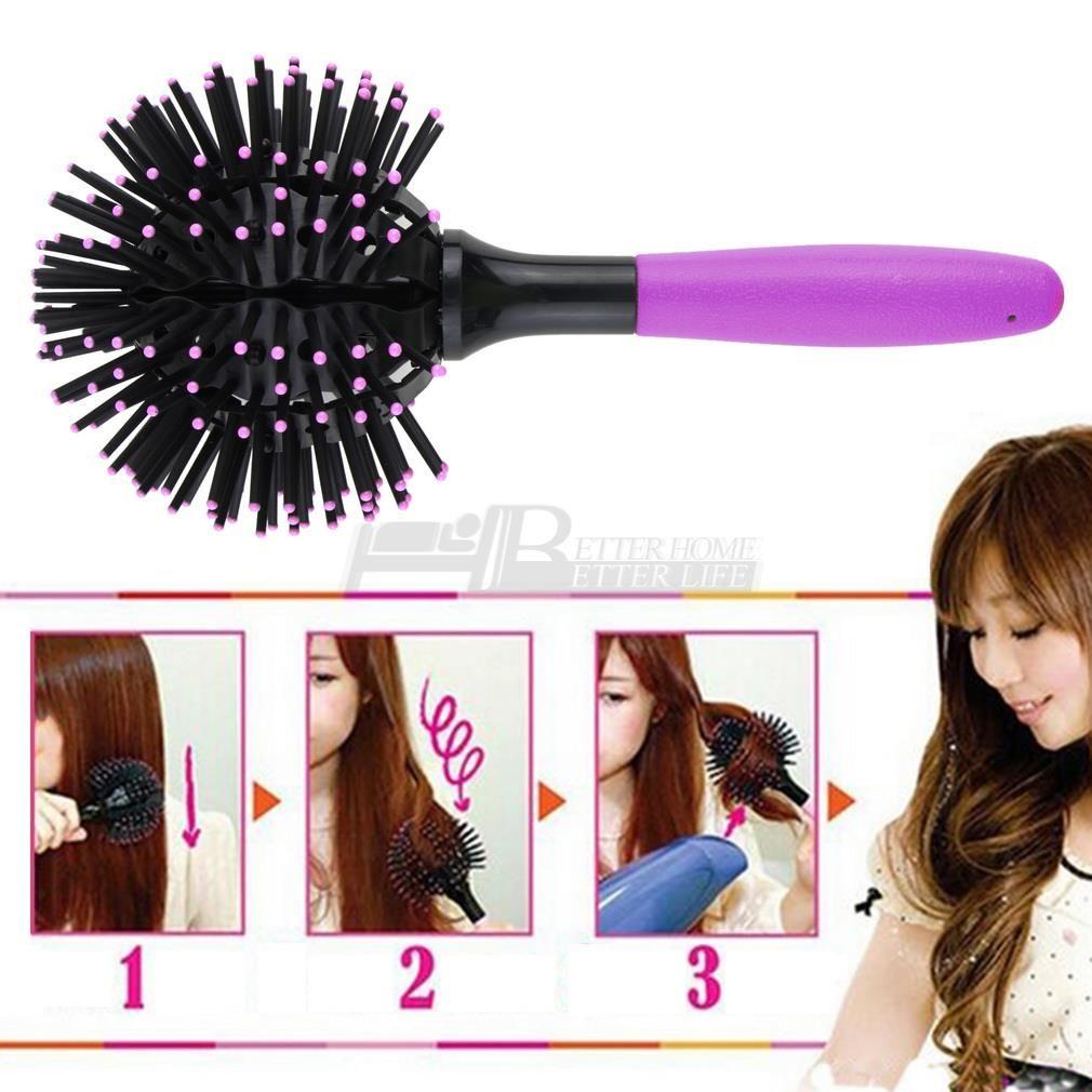 1pc Professional Salon Products 3d Curl Hair Brush Ball Style Blow Drying Detangling Heat Resistant Hair Comb Cepillos Para El Cabello Cepillos De Pelo Cepillo