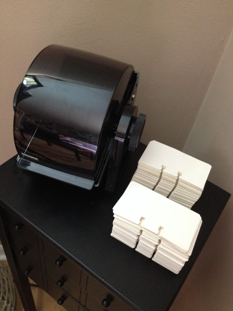 Vintage Rolodex DRF 24C Rotary Business Card Organizer Black Full of ...