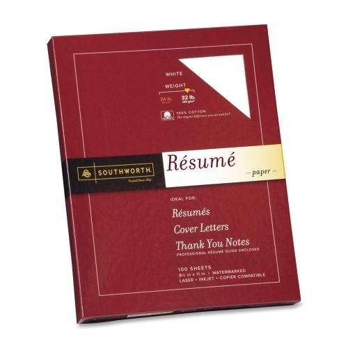 DollarDays Southworth Company Resume Paper, Wove 32 lb, 8-1/2