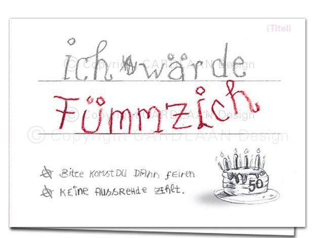 Lustige Einladungskarten Zum Funfzigsten Geburtstag Verschicke