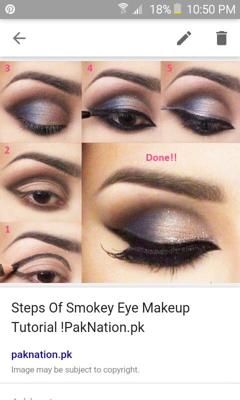 Steps of Smokey Eye Makeup Tutorial