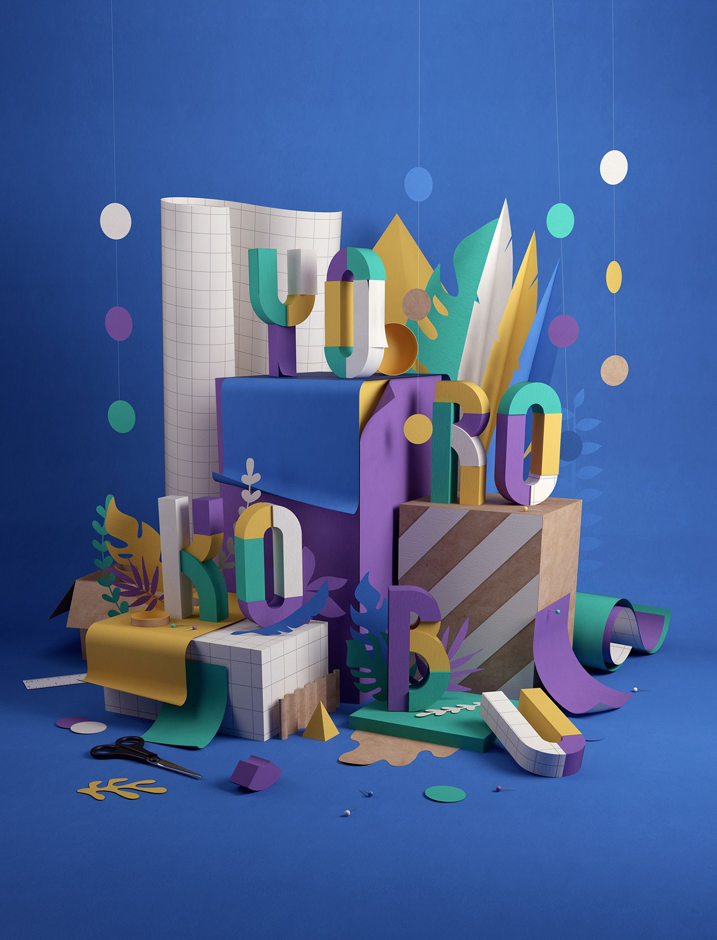 Yorokobu Cover On Behance Future Home Pinterest Behance D - Amazing 3d artwork dani aristizabal