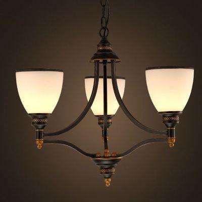 American Vintage Ikea Chandelier Lights Glass Copper Pendant Lamp Dinning  Living Room Home Decor Lighting