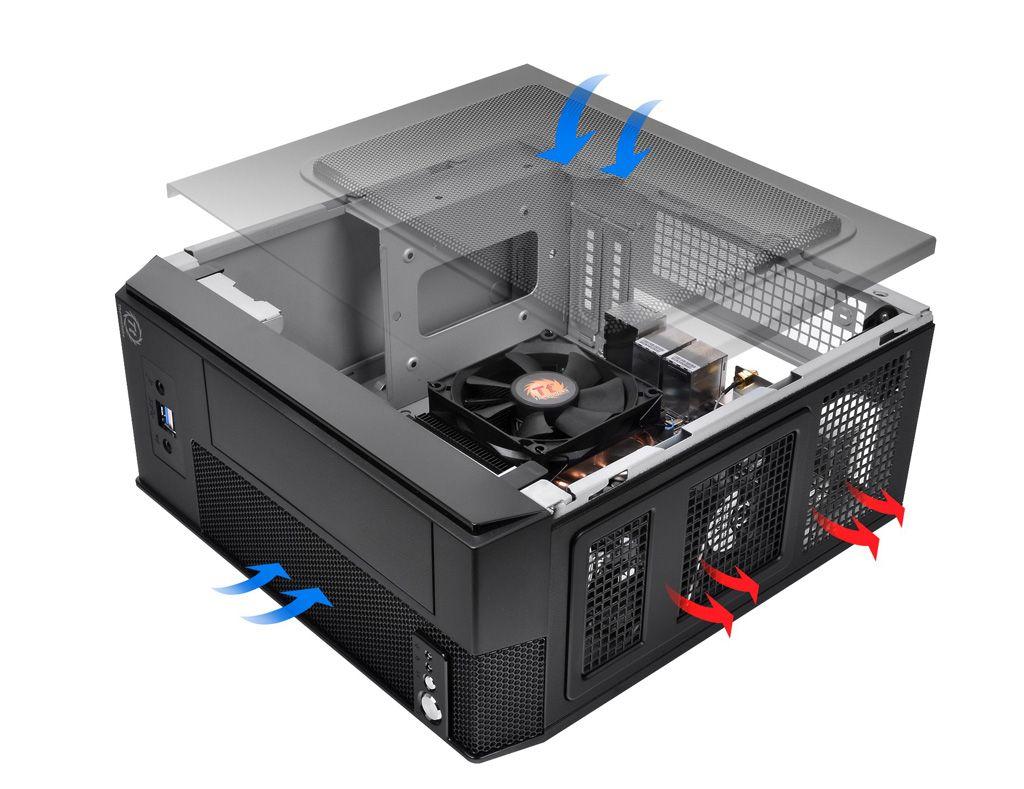 Thermaltake SD101, carcasa Mini-ITX