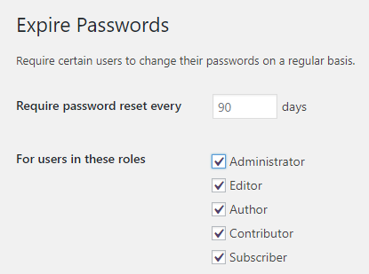 change password wordpress