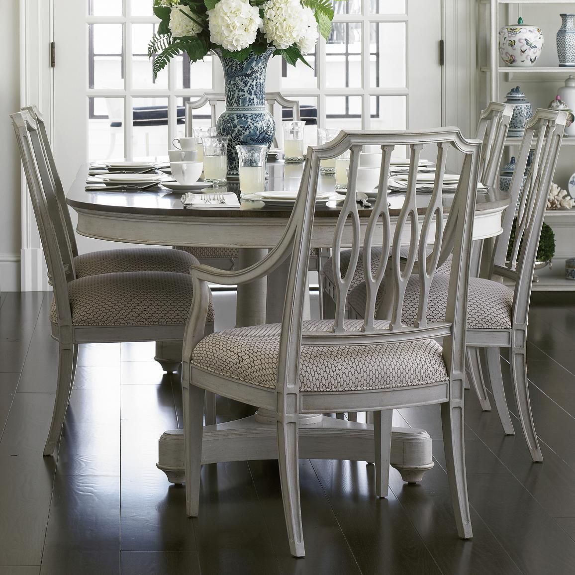 Charleston Regency 7 Piece Table and Chair Set by Stanley ...