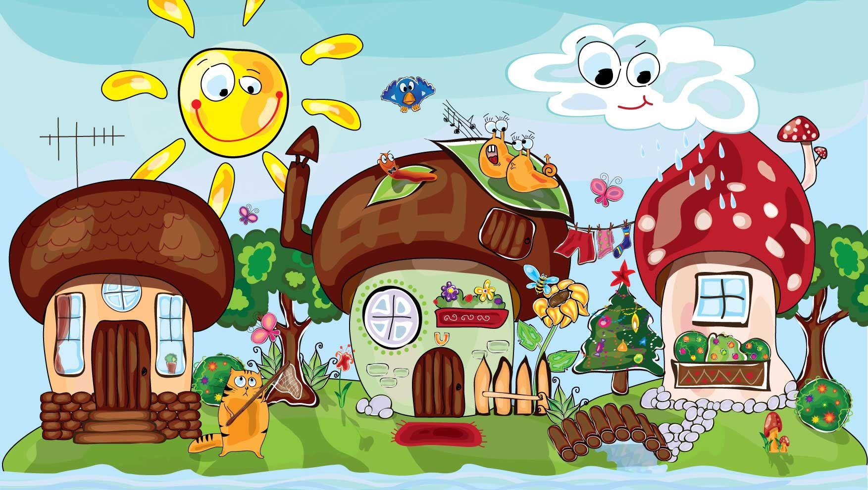 Для картинки, дом прикольный рисунок