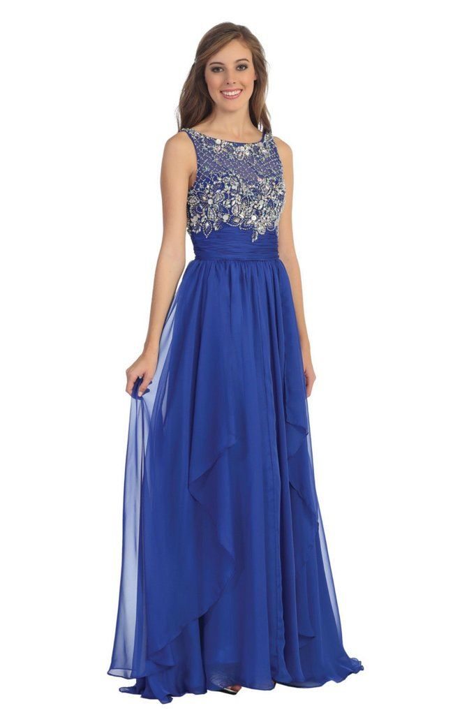 Long Formal Dress Marine Ball Plus Size Prom Special Occasion The