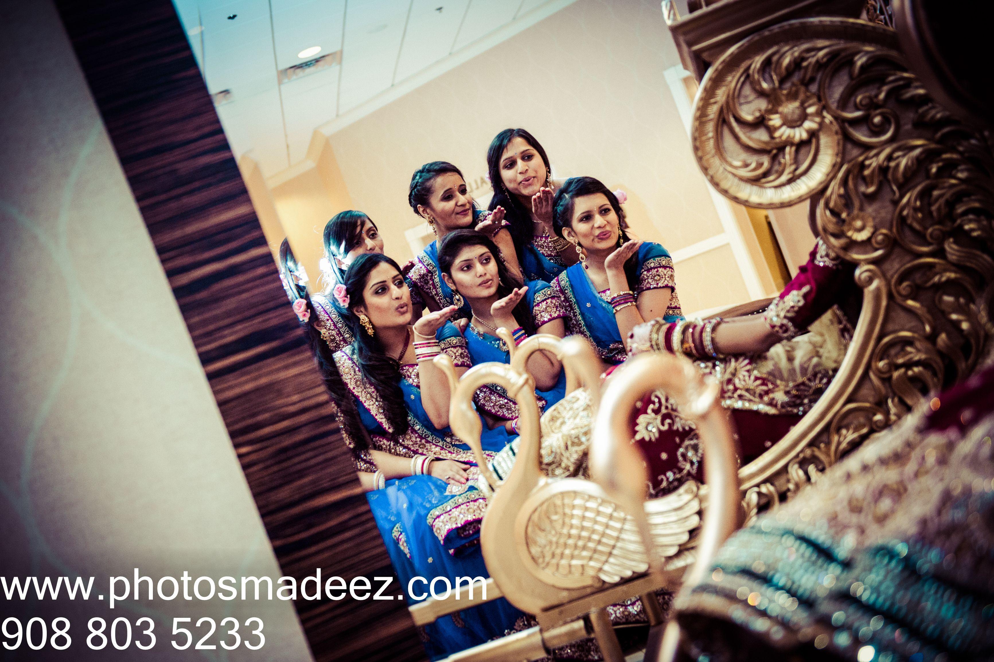 Indian Gujarati Wedding Photo Bride And Bridemaids Portrait Photography NJ New Jersey Based