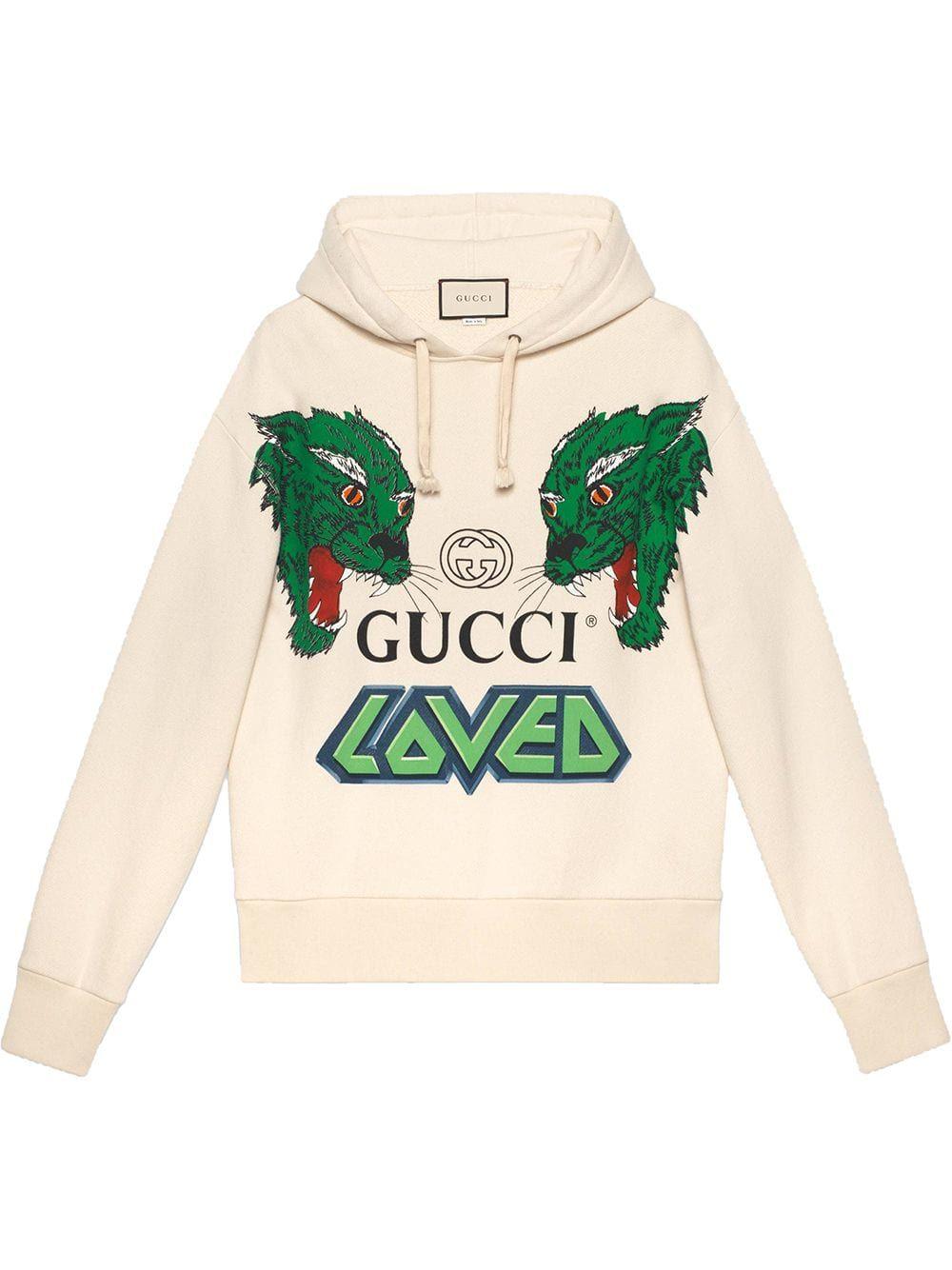 Gucci Gucci Cotton Sweatshirt With Tigers Neutrals Gucci Cloth Mens Designer Hoodies Mens Sweatshirts Cotton Sweatshirts [ 1334 x 1000 Pixel ]