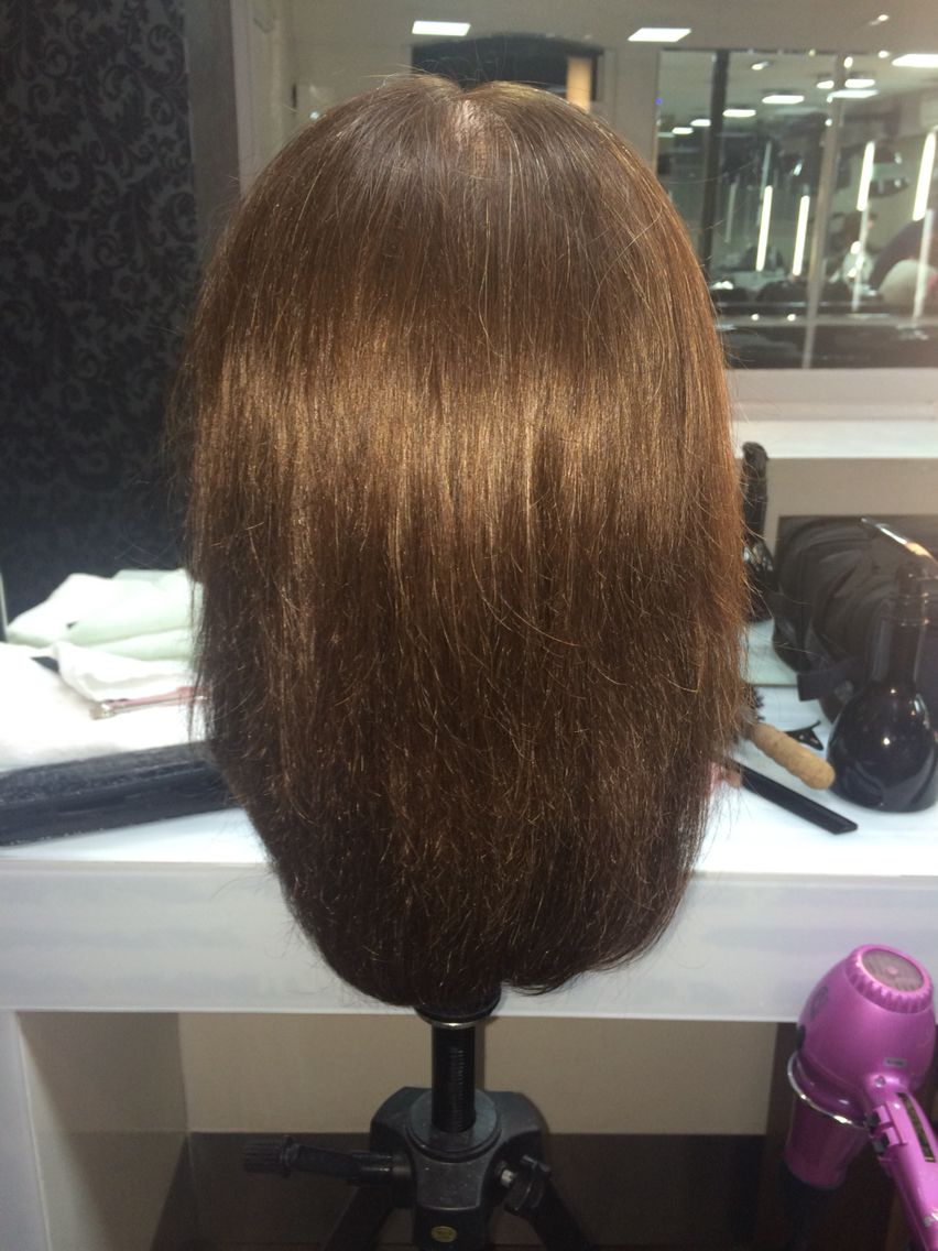 My First Attempt Of A One Length Haircut And A Round Brush Blowdry