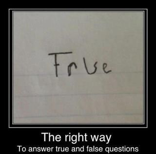 How to answer exams :))