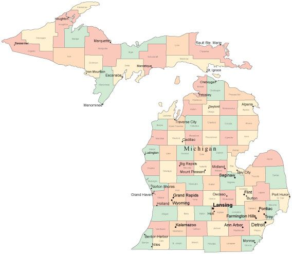 MichiganInteresting Facts News Bubblews Stuff And Nonsense - Map of michigan counties and cities