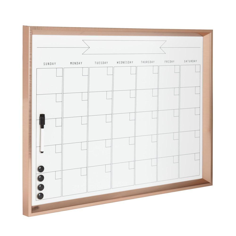 Designovation Calter Monthly Dry Erase Calendar Memo Board Dry