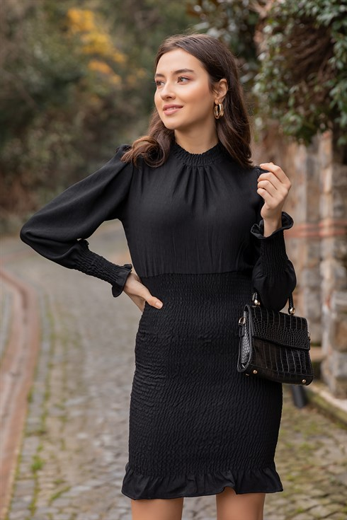Gipeli Duz Elbise Siyah 2020 Elbise Elbise Modelleri Siyah