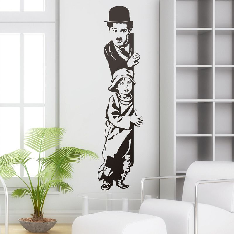 Chaplin the kid vinilos decorativos vinilos - Vinilos decorativos cine ...