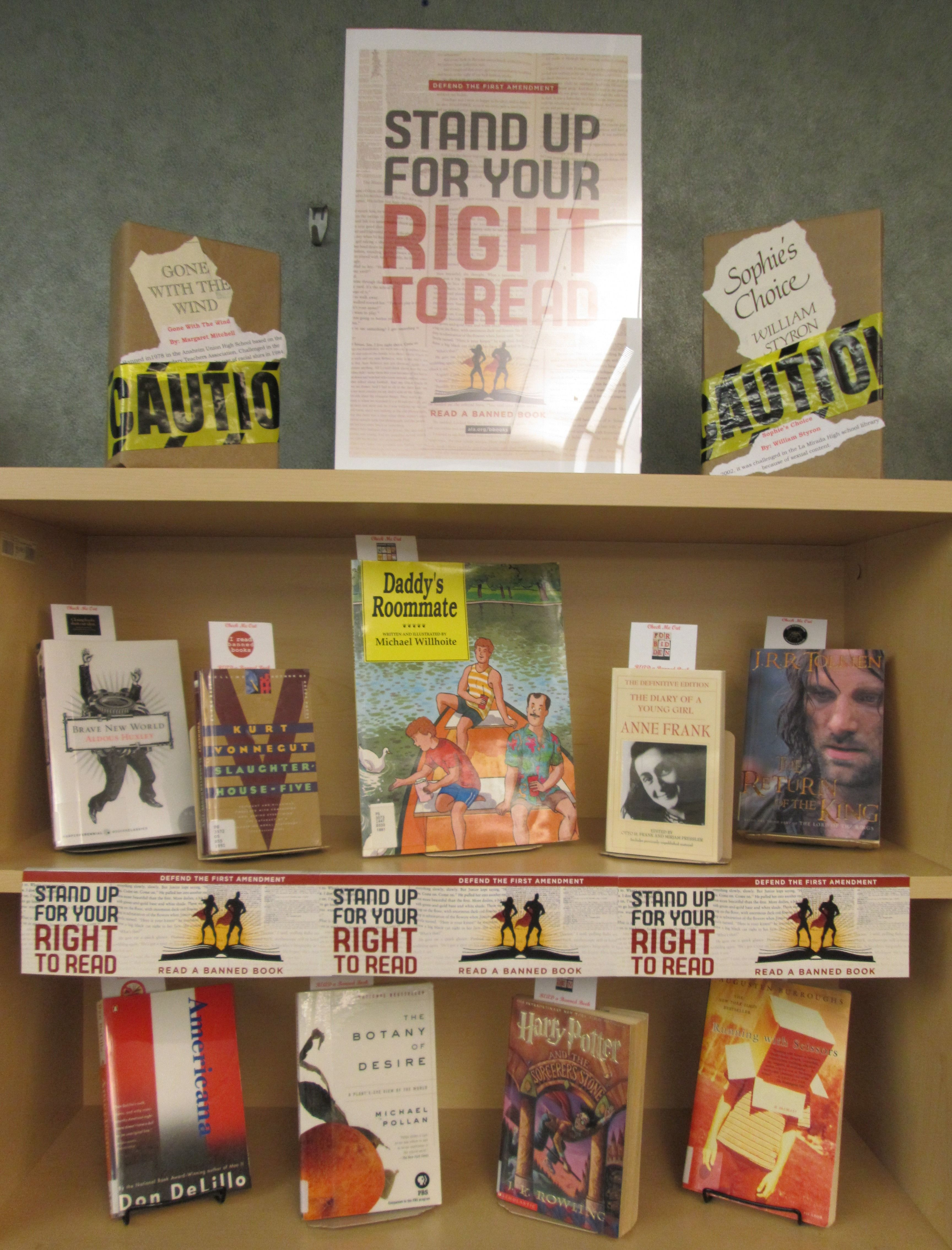 Banned Books Week September 2016 at Bellevue University Library.