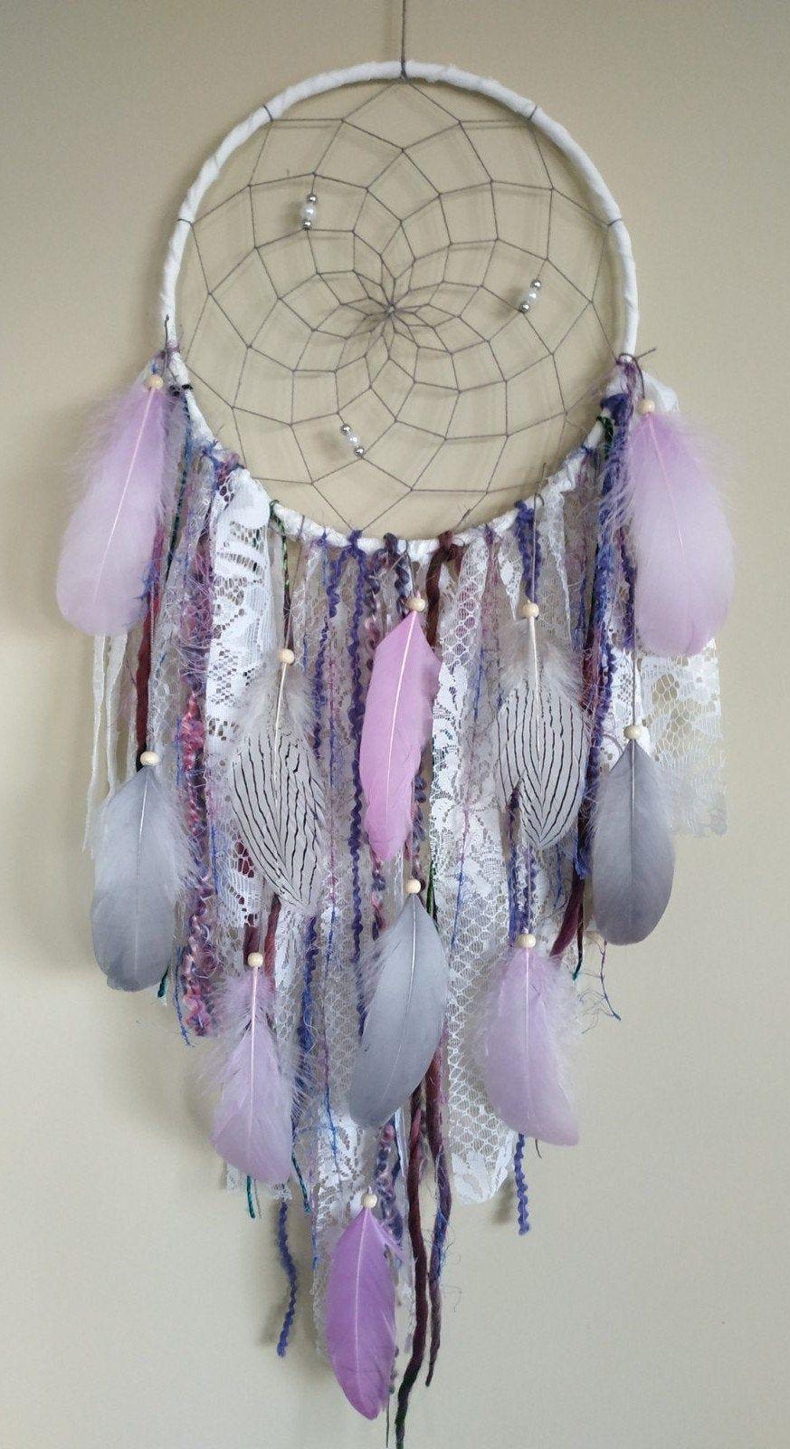 Large Boho Feather Dream Catcher Kit DIY Wall Hanging Dreamcatcher Room Decor