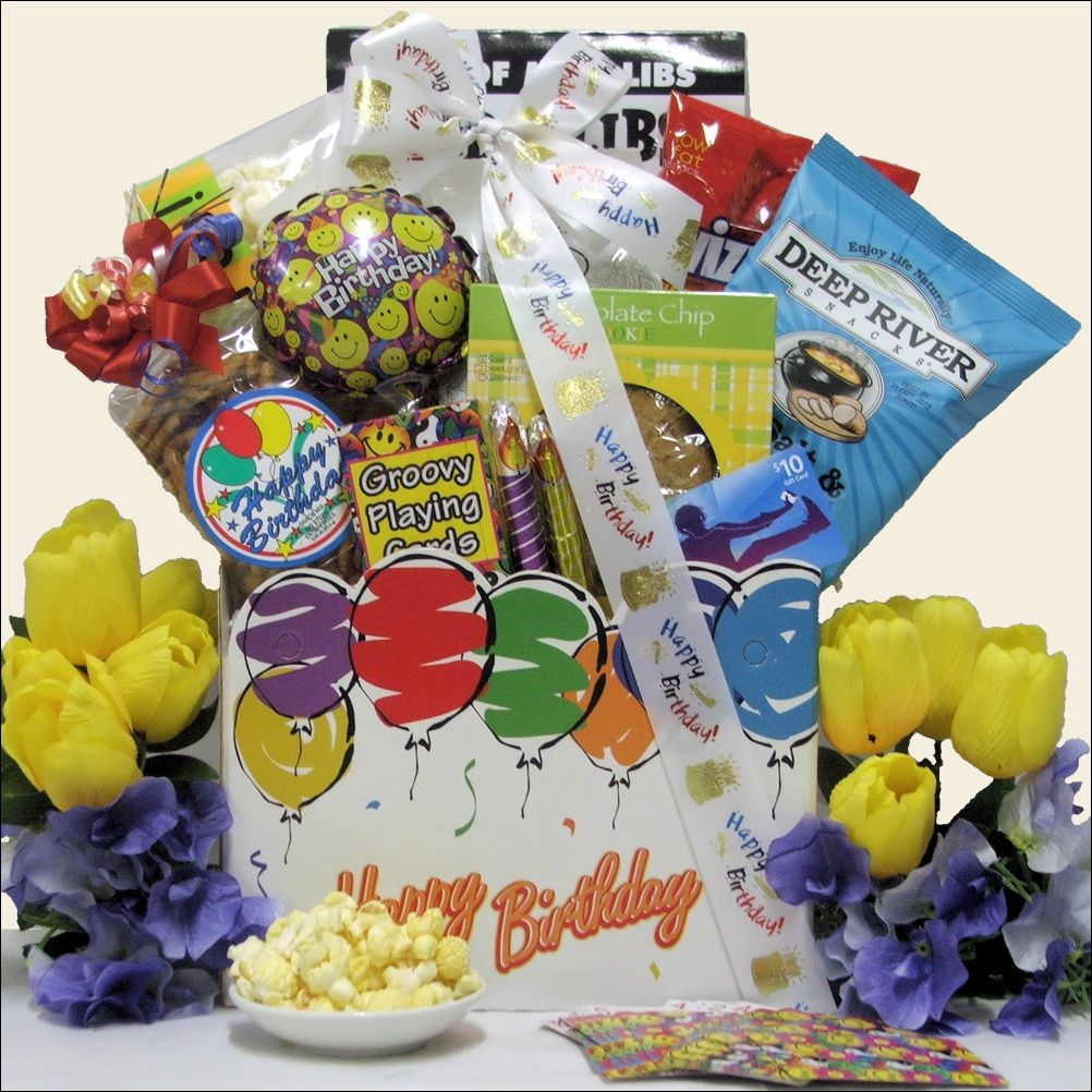 Birthday Gifts By Age: Send A Teen This Fantastic Birthday Basket That Has Great