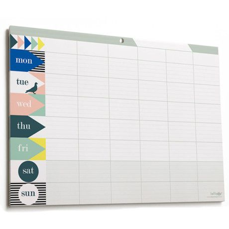 Are you interested in our weekly planner pad with family wall need look no further also  large calendar modern nature rh pinterest