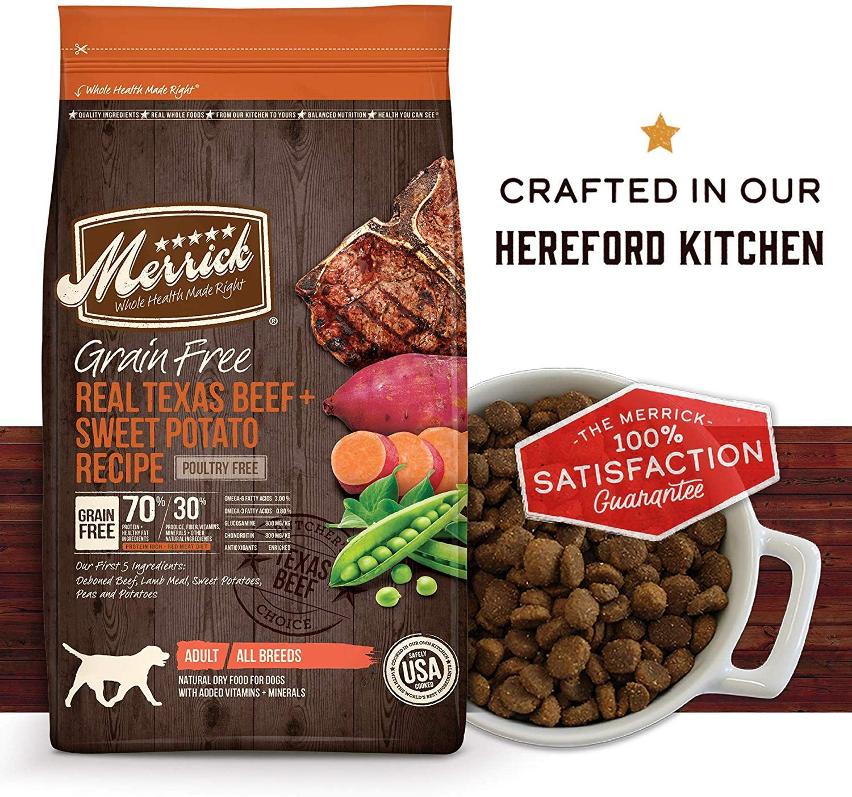 Merrick grain dry dog food recipes size 4 pound color