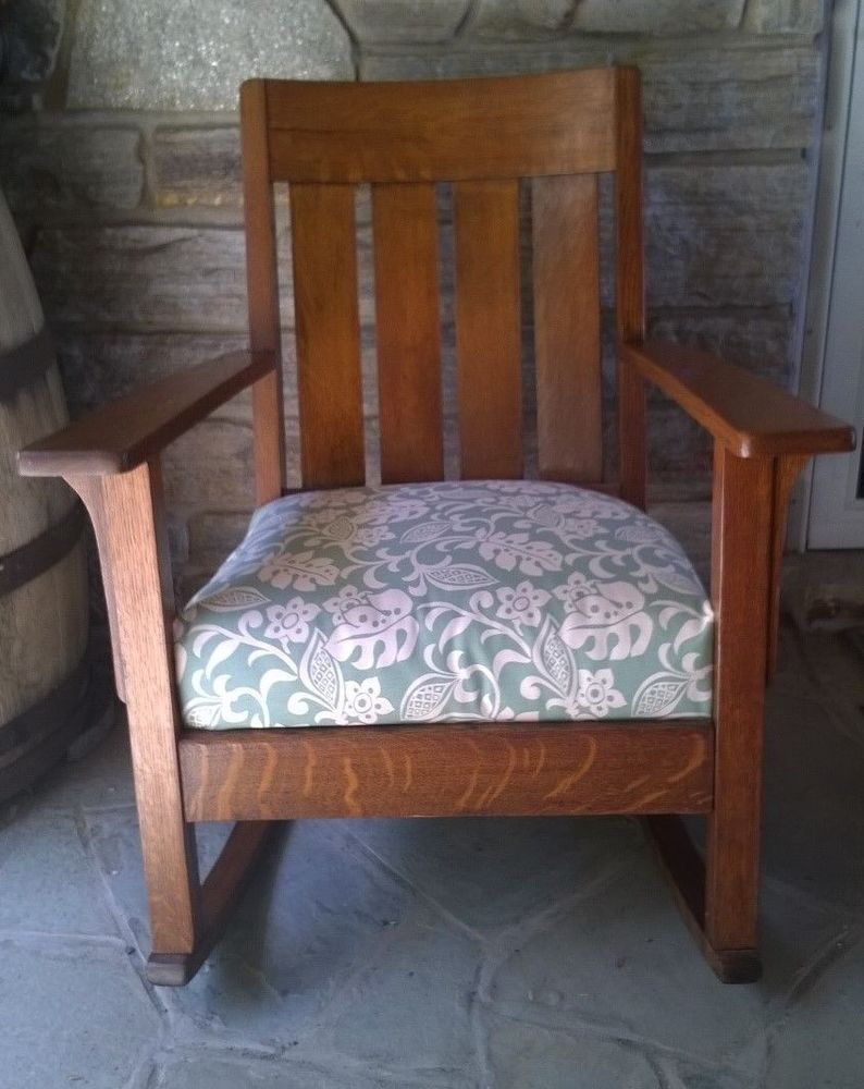 Brilliant Antique Solid Wood Mission Rocking Chair Decorating Beatyapartments Chair Design Images Beatyapartmentscom