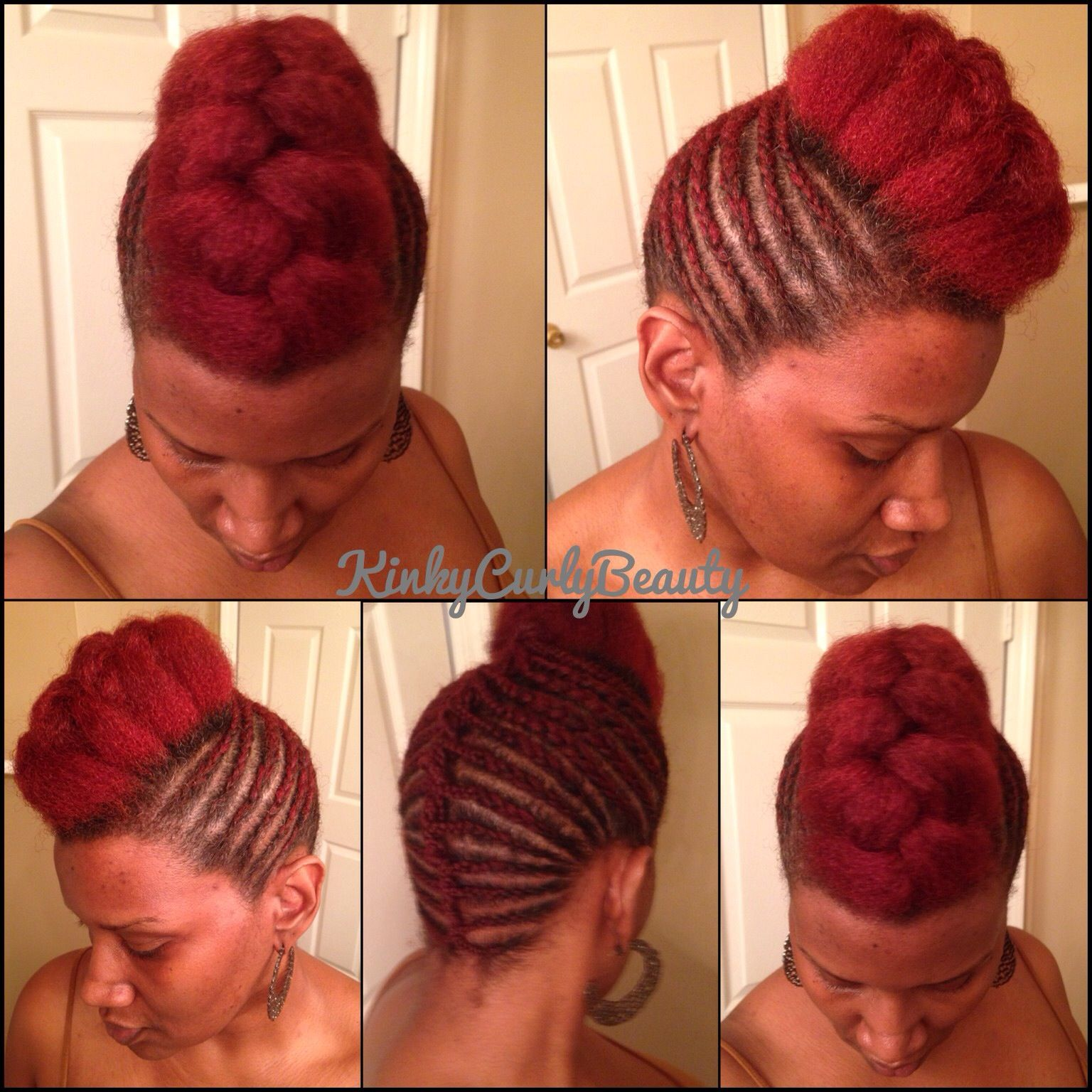 Prime Updo With Cornrows And A Jumbo French Braid My Natural Hair Hairstyles For Men Maxibearus