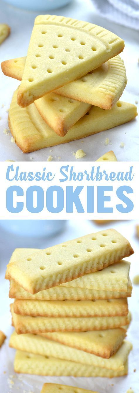 Classic Shortbread Cookies made with only takes 3 ingredients