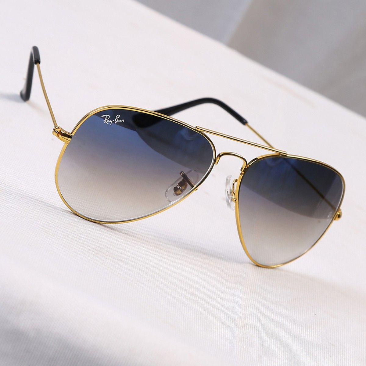 Aviator blue shade golden frame Sunglasses, Sunglasses