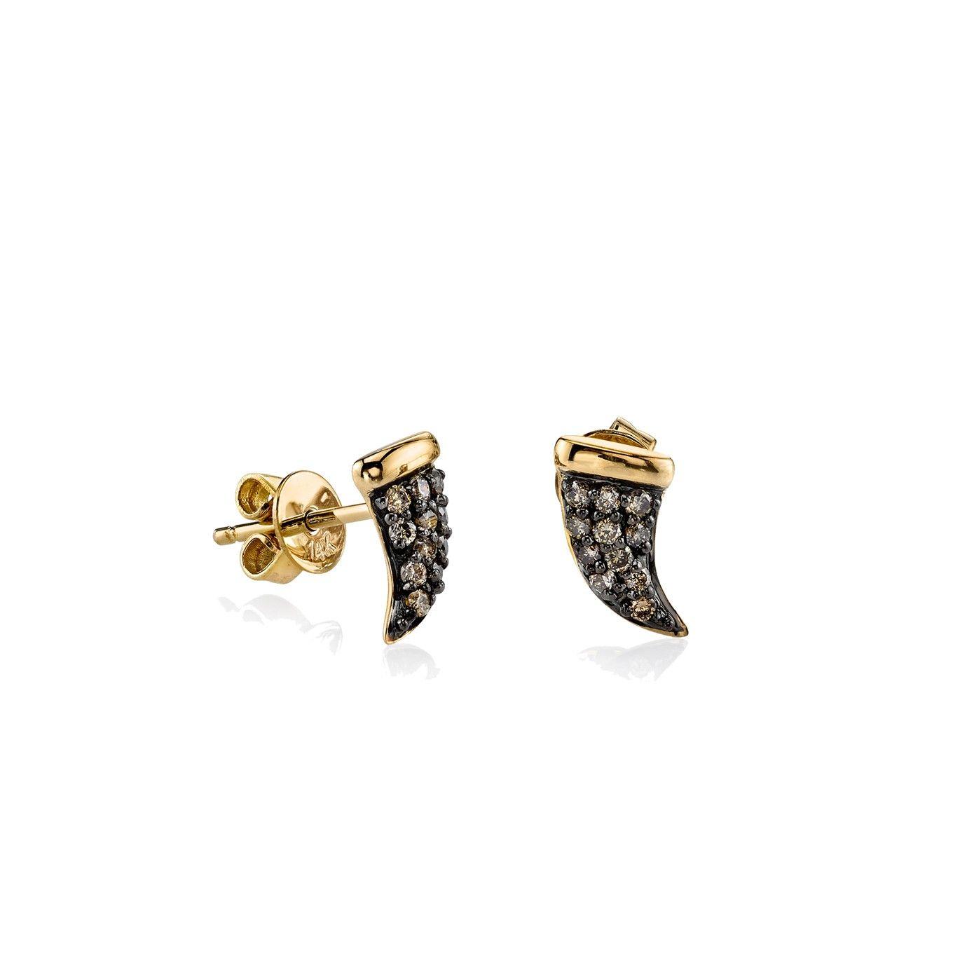 Sydney Evan Mini Butterfly Stud Earring with Diamonds XDY8rBAdfJ