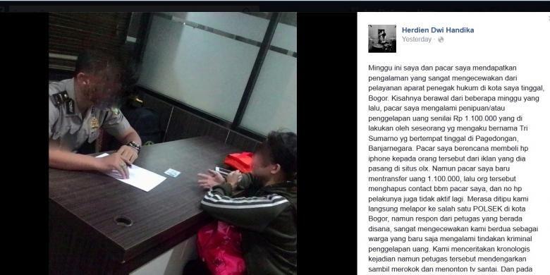 Penipuan Lapor Polisi Karena Tertipu Rp 1 2 Juta Korban Malah Diminta Mengikhlaskan Kasus Penipuan Online Kembali Terjadi Kali In Uang Polisi Penegak Hukum