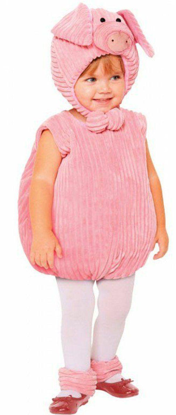 tolle ideen für faschingskostüme kind kleines schweinchen