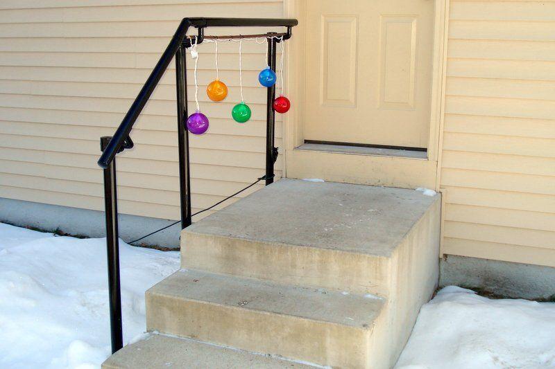 Metal stair railing mounted to side of steps house pinterest 5 diy metal stair railing examples solutioingenieria Gallery