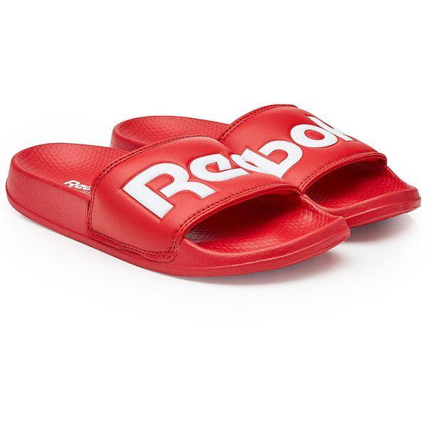 Reebok Rubber Slides ($33) ❤ liked on