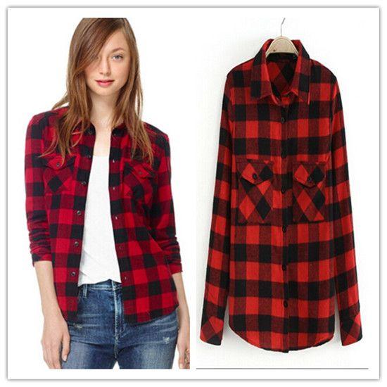 zwart rode blouse