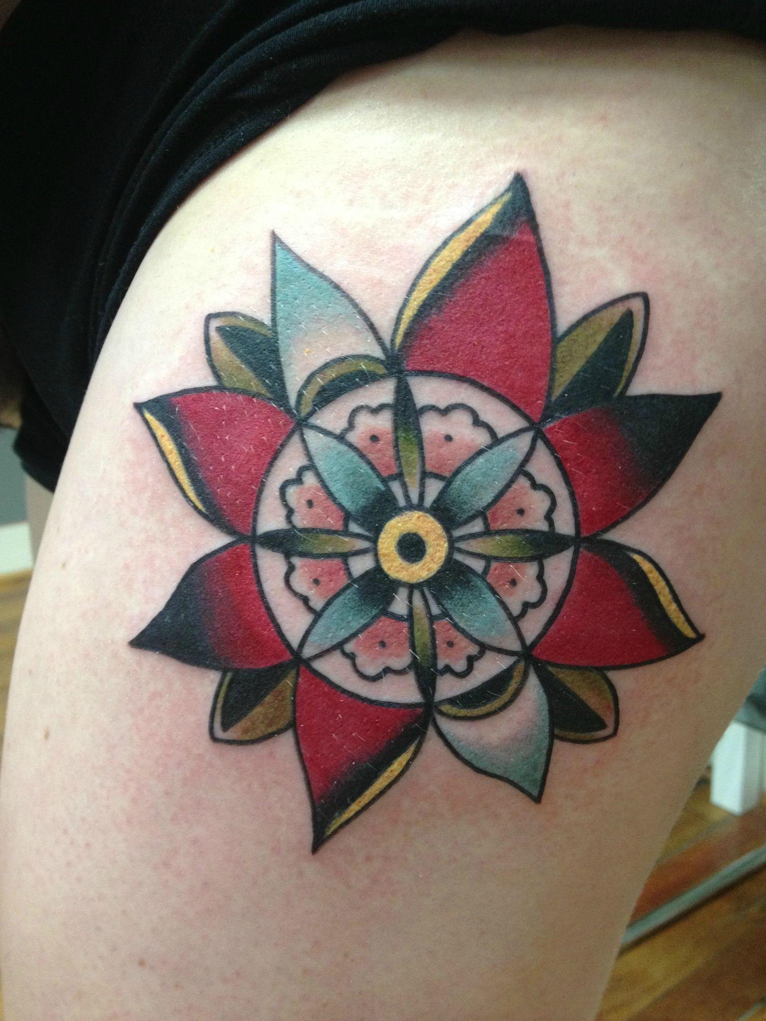 traditional flower tattoo Ink Pinterest