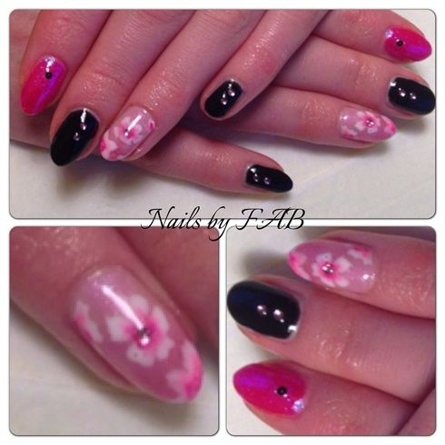Pink to Black by finessebeauty - Nail Art Gallery nailartgallery.nailsmag.com by Nails Magazine www.nailsmag.com #nailart